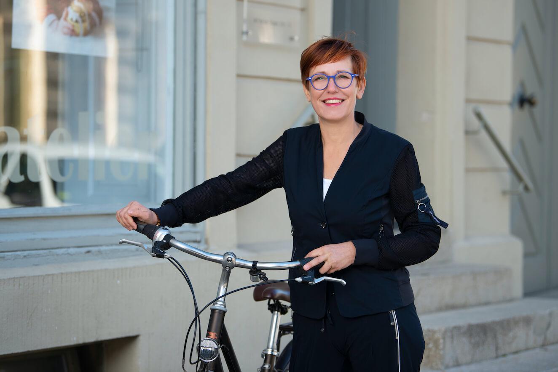 Beatrice mit Fahrrad